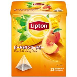 립톤 복숭아 & 망고티 티백 1봉지 (12개입)