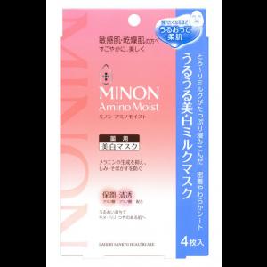 미논 아미노 모이스트 촉촉한 미백 밀크 마스크 (4매입)