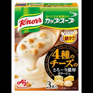 아지노모토 쿠노르 컵스프 4 종의 치즈 포타주 1상자 (3개입)