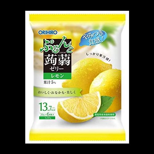 오리히로 곤약젤리 시칠리아 레몬 파우치형 (6개입)