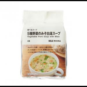 무인양품 5종 야채 된장 백탕 스프1봉 (4팩)