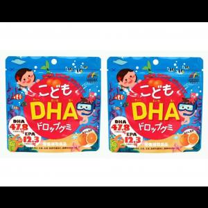 유니 리켄 어린이 DHA드롭 구미 90알 (2개 세트)