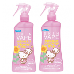 Skin Vape 스킨 베이프 모기약 미스트 헬로키티 200ml - 피치 살구 (2개 세트)