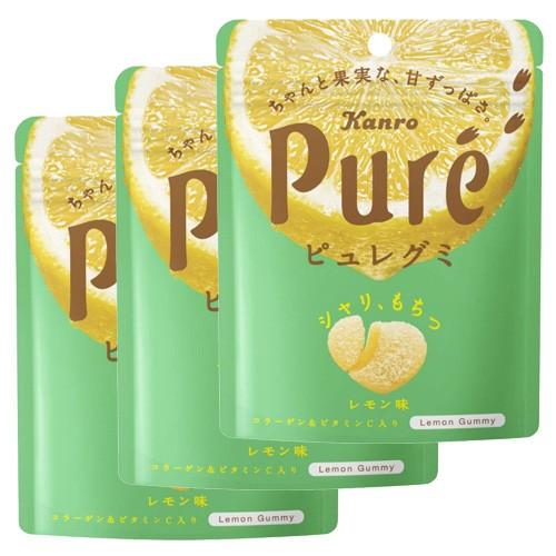Kanro Pure 구미 레몬맛 (3개 세트)