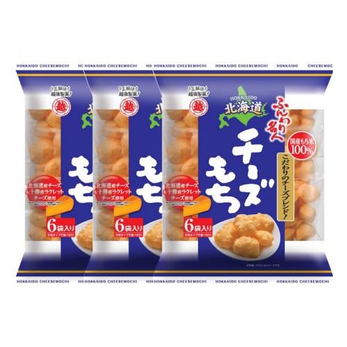 에치고 제과 명인 홋카이도 치즈 인절미과자 (3개 세트)