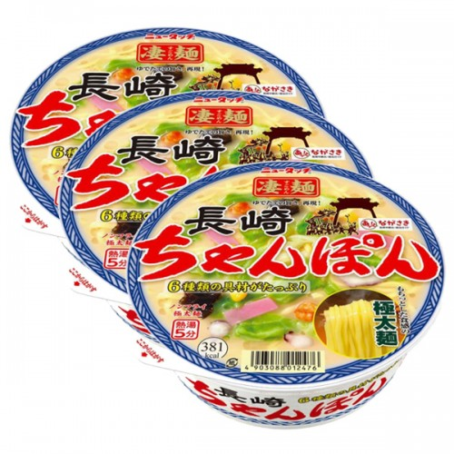 야마다이 나가사키 짬뽕 컵라면 (3개 세트)