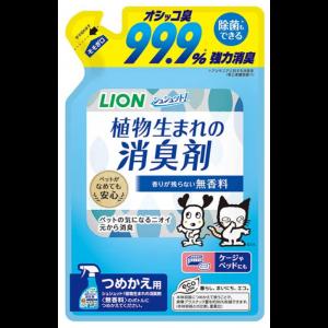 LION 슈슈토 식물 반려동물 탈취제 무향료 리필용 320ml